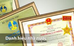 Danh hiệu nhà nước trao tặng